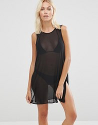 Evil Twin Mesh Sleevless Beach Cover Up Black