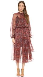 Zimmermann Empire Laced Dress With Slip Rouge Konya