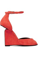 Pierre Hardy Arp Suede Wedge Sandals