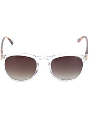 Linda Farrow Gallery Square Frames Sunglasses White