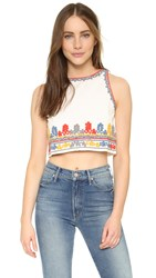 Glamorous Embroidered Crop Top Cream Embroidered