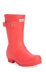 Hunter Women's 'Original Short' Rain Boot Bright Coral