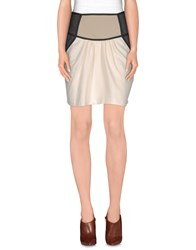 Fairly Skirts Knee Length Skirts Women Beige