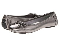 Anne Klein Buttons Pewter 2 Women's Flat Shoes