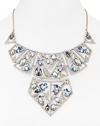 Alexis Bittar Mosaic Lace Mixed Stone Bib Necklace 14 Matte Rhodium With Matte 10K Gold