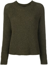 Roberto Collina Ribbed Jumper Green