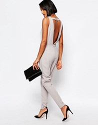 Y.A.S Diana Jumpsuit With Cut Out Back Brushed Nickle
