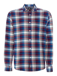 Army And Navy Benidict Check Shirt Blue
