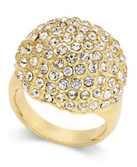 Thalia Sodi Gold Tone Crystal Pave Dome Ring Only At Macy's