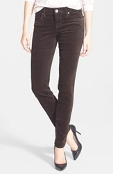 Petite Women's Kut From The Kloth 'Diana' Stretch Corduroy Skinny Pants Brown
