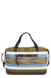 Volcom 'Vintage Queen' Canvas Overnight Bag With Faux Leather Trim