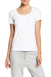 Joan Vass Short Sleeve Tee White