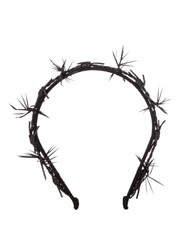 Gigi Burris Millinery Barbed Feather And Leather Trim Headband