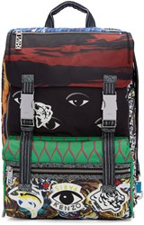 Kenzo Multicolor Patterned Backpack