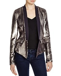 Greylin Open Sequin Jacket Compare At 175 Silver