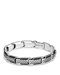 David Yurman Cable Classic Chain Bracelet With Black Diamonds