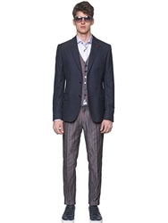 Royal Hem Wool Hopsack Blazer Navy