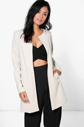 Holly Collarless Lined Duster