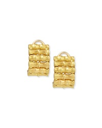 18K Yellow Gold Bamboo Earrings Robert Coin