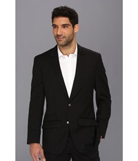 Robert Graham Cicero Basic Wool Sportcoat Black Men's Coat