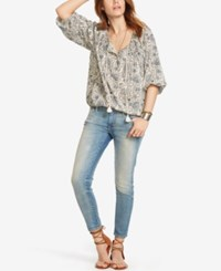 Denim And Supply Ralph Lauren Peasant Top Floral Multi