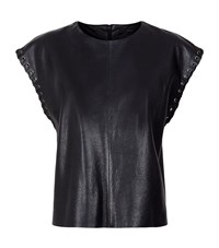Set Whipstitch Leather Top Female