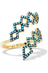 Noir Jewelry Mineral Springs Gold Plated Turquoise Ring