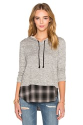 Generation Love Chester Plaid Hoodie Gray