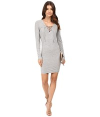 Only Rikki Lace Up Dress Light Gray Melange Women's Dress