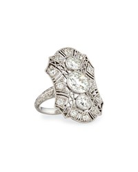 Nm Estate Jewelry Collection Estate Edwardian Three Stone Diamond Dinner Ring