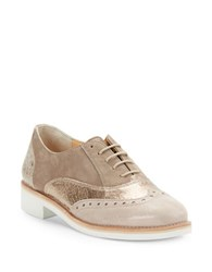 Paul Green Jayne Leather And Suede Oxfords Rosewood Combo