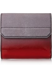 Alexander Wang Chastity Ombre Effect Suede And Patent Leather Wallet Red