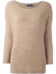 Polo Ralph Lauren Ribbed Jumper Nude And Neutrals