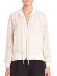 3.1 Phillip Lim Tweed Cinched Bomber Jacket