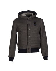 Blauer Topwear Sweatshirts Men Steel Grey