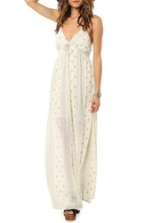 Junior Women's O'neill Swimwear 'Cynthia' Print Maxi Dress Grey
