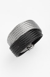 Women's Alor Cable Wrap Ring Black Grey