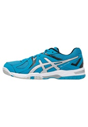 Asics Gelcourt Hunter 3 Volleyball Shoes Turquoise Silver Black