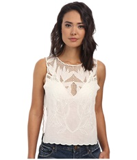 Free People Solid Voile Island In The Sun Crop Top White Women's T Shirt