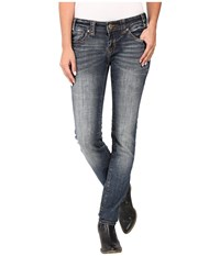 Rock And Roll Cowgirl Low Rise Skinny In Dark Vintage W0s8470 Dark Vintage Women's Jeans Navy