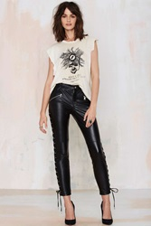 Nasty Gal Pedal To The Metal Leather Leggings
