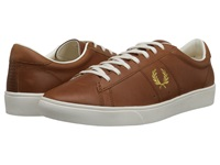 Fred Perry Spencer Leather Dark Tan 1964 Gold Men's Shoes Brown