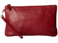 Mighty Purse Coated Cow Leather Charging Wristlet Wine Red Wristlet Handbags
