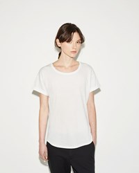 Organic By John Patrick Roll Sleeve Tee White