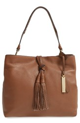 Vince Camuto Taro Leather Hobo Brown Golden Brown