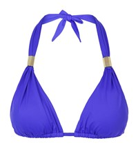 Lazul Maia Halterneck Bikini Top Female Purple
