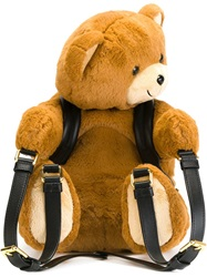Moschino Teddy Bear Backpack Nude And Neutrals