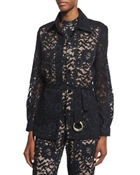 Alexis Tim Belted Lace Jacket Black