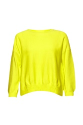 French Connection Springtime Crew Neck Jumper Pastel Yellow
