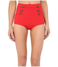 Unique Vintage Mrs. Cooper Sailor Bottoms Red Women's Swimwear